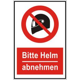 """Verbotsschild """"Helm verboten"""""""