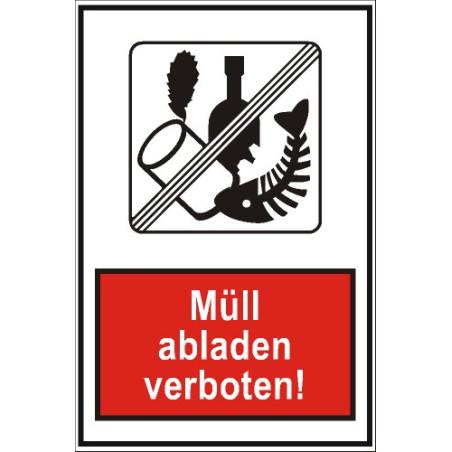 """Verbotsschild """"Müll abladen verboten"""""""