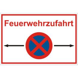 """Parkverbotsschild """"Feuerwehrzufahrt"""""""