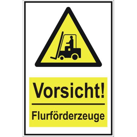"""Warnschild """"Warnung vor Flurförderfahrzeugen"""""""