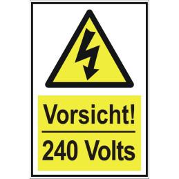 """Warnschild """"240 Volt elektrische Spannung"""""""