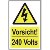 Warnschild  240 Volts