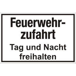 """Hinweisschild """"Feuerwehrzufahrt"""""""