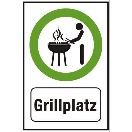 "Hinweisschild ""Grillplatz"""