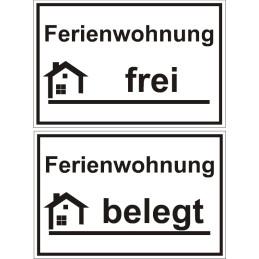 """Hinweisschild """"Ferienwohnung"""""""