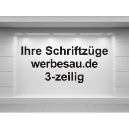 """Folienschriftzug """"Eigner Text - 3zeilig"""""""