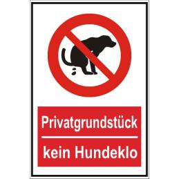 "Verbotsschild ""kein Hundeklo"""