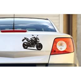 """Autoaufkleber """"Motorrad Kawa"""""""