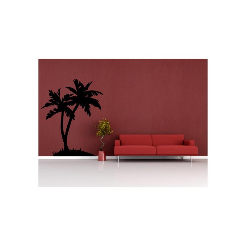 Wandtatto f rs wohnzimmer palme for Wohnzimmer palme