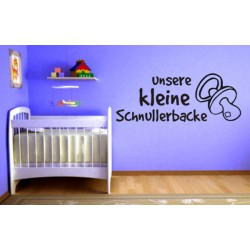 "Wandtattoo ""Unsere Schnullerbacke"""