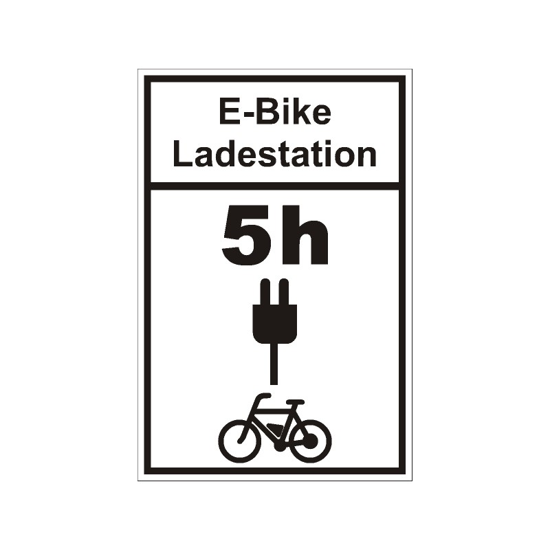 schild e bike ladestation mit wunschtext. Black Bedroom Furniture Sets. Home Design Ideas