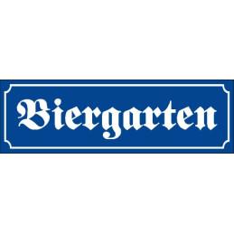 "Schild ""Biergarten"""