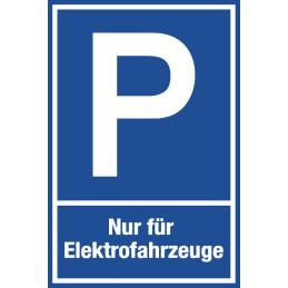 "Parkplatzschild ""Elektrofahrzeuge"""
