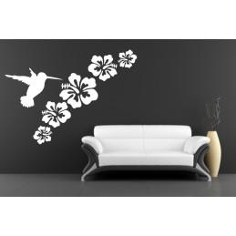 """Wandtattoo """"Vogel + Blume"""""""
