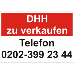"Verkaufsschild ""Doppelhaushälfte zu verkaufen"""