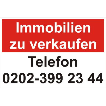 """Verkaufsschild für Immobilien """"Individuell"""""""