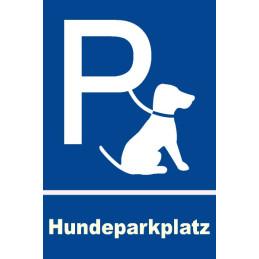 Parkplatzschild für Hunde