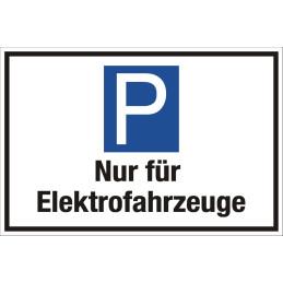 """Parkplatzschild """"Nur für Elektorfahrzeuge"""""""