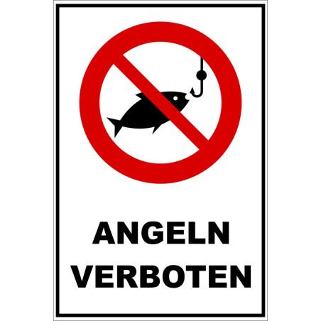 """Verbotsschild """"Angeln verboten"""""""