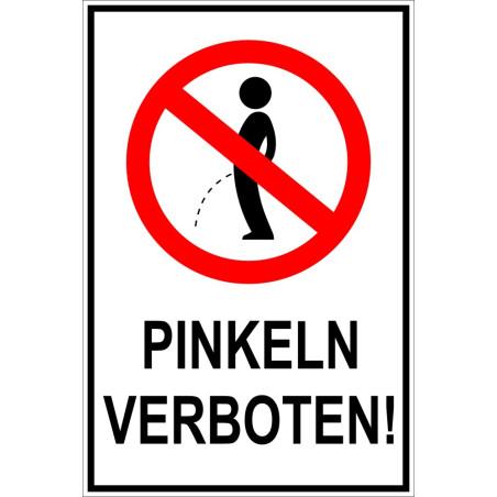 """Schild """"Pinkeln verboten"""""""