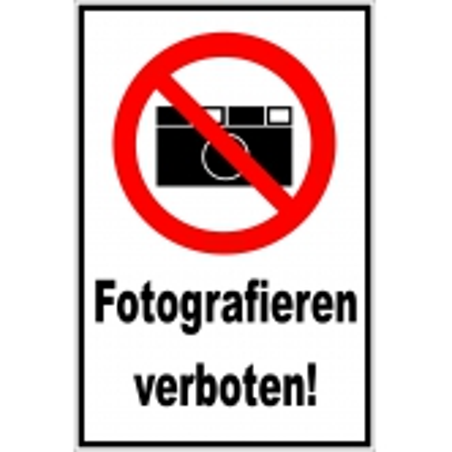 "Schild ""Fotografieren verboten"""