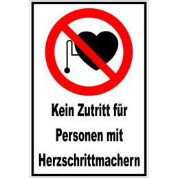 """Verbotsschild """"Herzschrittmacher"""""""