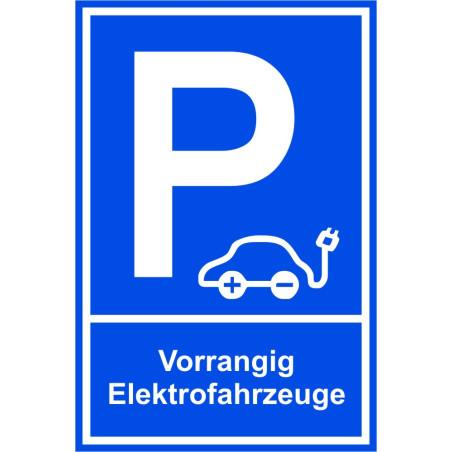 "Parkplatzschild ""Vorrangig Elektrofahrzeuge"""
