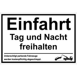 """Hinweisschild """"Einfahrt freihalten"""""""