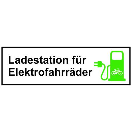 "Schild ""Ladestation Elektrofahrrad"""