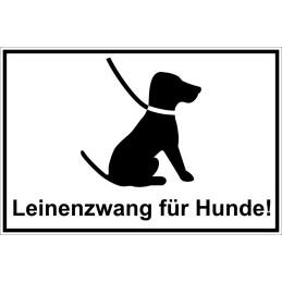 """Hinweisschild """"Leinenzwang für Hunde"""""""