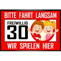 Warnschild Spielende Kinder