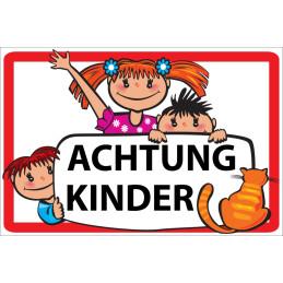 """Warnschild """"Achtung Kinder"""""""