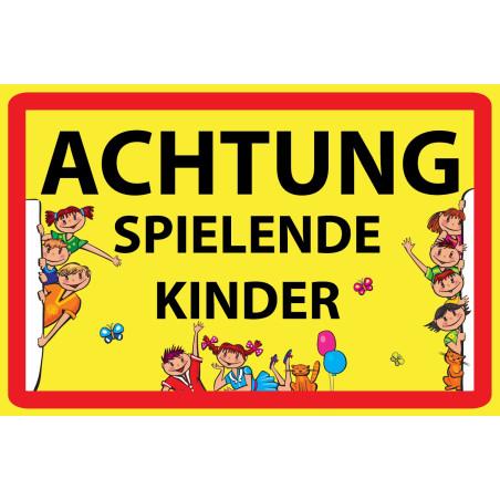 """Warnschild """"Achtung spielende Kinder"""""""