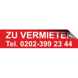 """Aufkleber """"ZU VERMIETEN"""" mit Telefonnummer"""