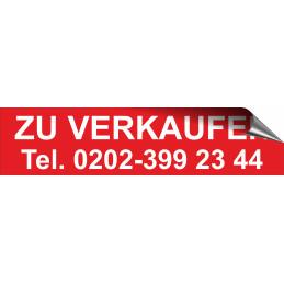 """Aufkleber """"ZU VERKAUFEN"""" mit Telefonnummer"""