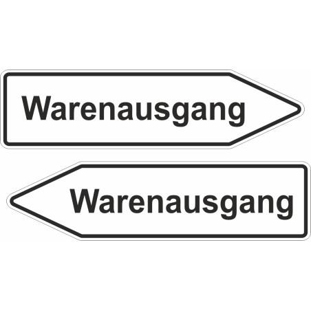 """Pfleilschild """"Warenausgang"""""""