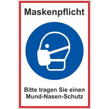 """Schild """"Maskenpflicht"""""""