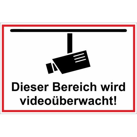 """Hinweischild """"Videoüberwachung"""""""