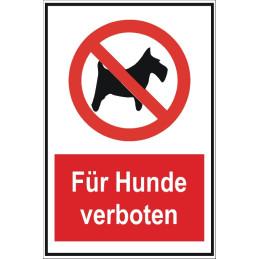 """Verbotsschild """"Für Hunde verboten"""""""